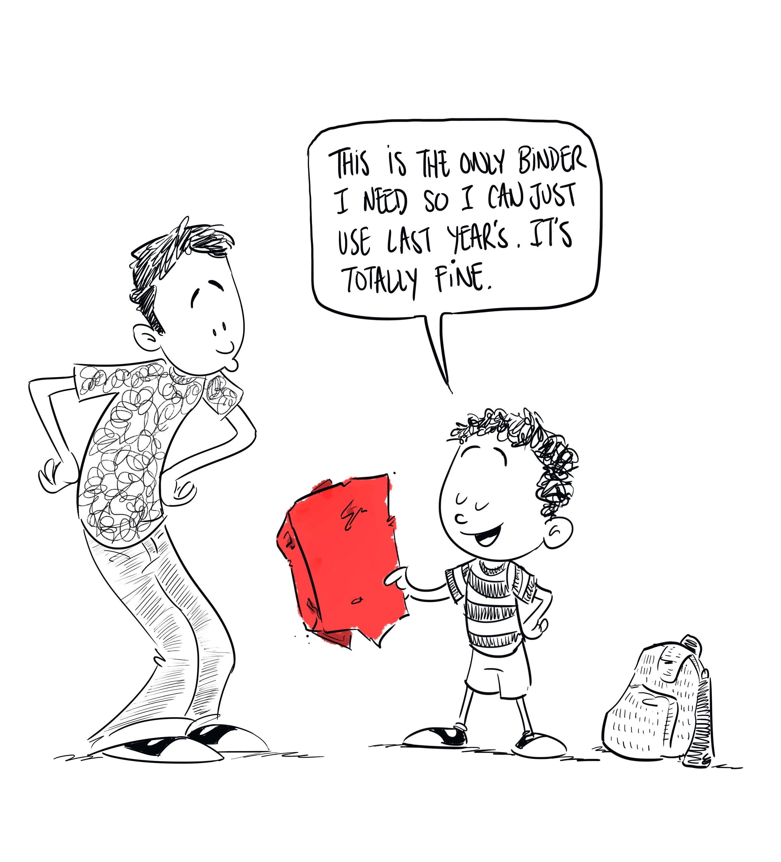 back to school binder